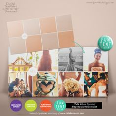 12x24 Album spread / blog board / collage 8 by FUNTENTDESIGN, $8.00