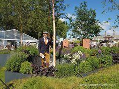 Garden Designer Lee Bestall in The Sir Simon Milton Foundation Urban Connections Garden he designed for the 2016 RHS…