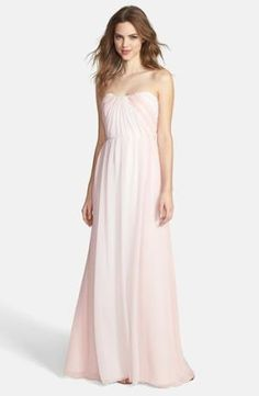 Color-contrast panels beautifully frame a flowing pleat-shaped gown starting from the strapless neckline down to the sweeping hemline. A seamed waist provides effortless feminine shape. Color(s): blush/ rose/ ivory. Brand: JIM HJELM. Style Name: Jim $230.00 by nordstrom