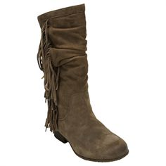 Kenneth Cole Reaction Hi King Suede Tassel Slouchy Boot