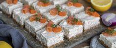 Laxtårta med dill och citronpeppar - Kockens Swedish Recipes, Feta, Cheese, Inspiration, Biblical Inspiration, Inspirational, Inhalation