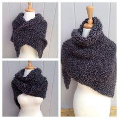 Beautiful, Rustic, Grey Wrap. Outlander-inspired BOTH SIDES NOW shawl, wrap, Outlander shawl, Claire's grey wrap, heavy shawl, lap blanket