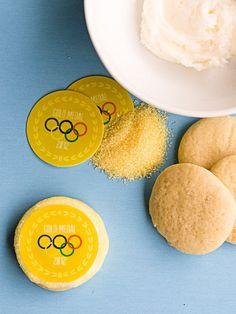 Olympic Gold Medal Cookies  via http://turquoisetulipsandbliss.blogspot.com/2012/07/let-games-begin.html