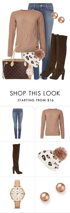 """""""#526 - Fall Look"""" by lilmissmegan ❤ liked on Polyvore featuring J Brand, Barbour, ALDO, Louis Vuitton, River Island, FOSSIL, Bloomingdale's, Fall, Boots and ootd"""