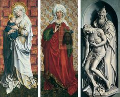 """The Flémalle Panels // ca. 1428–1430 // """"Master of Flémalle"""" (workshop of Robert Campin) // © Städel Museum // The Nursing Madonna / Saint Veronica / The Holy Trinity"""