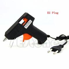 EU plug 20W Electric Heating Hot Melt Glue Gun Sticks Trigger Art Craft Repair Tool Free shipping