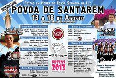 Festas em Honra de N. Sª da Luz | 13 a 18 de Agosto | Santarém
