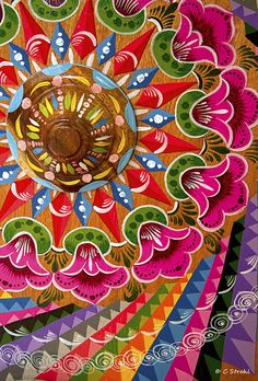Beautiful, colorful oxcart wheels seen at a woodcraft shop in Sarchi, Costa Rica. The detail and intricateness in these works of art are absolutely amazing! | cheryl strahl, via Flickr
