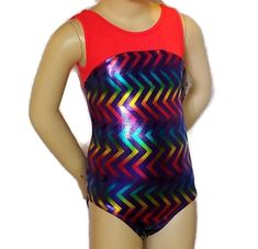 NWT New Little Stars Leotard Leo Tank Bright Color Hearts Stretch Cute Nice Girl