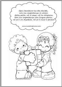 Le migliori 11 immagini su diritti bambini aula e colorazione for Maestra gemma diritti dei bambini