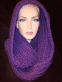 Purple Infinity Scarf Chunky Crocheted by FRESHOFFTHENEEDLE, $23.50