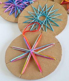 Diy yarn ornaments, kids christmas ornaments, holiday crafts for kids, chri Kids Crafts, Holiday Crafts For Kids, Christmas Activities, Yarn Crafts, Projects For Kids, Diy For Kids, Craft Kids, Project Ideas, Diy Projects