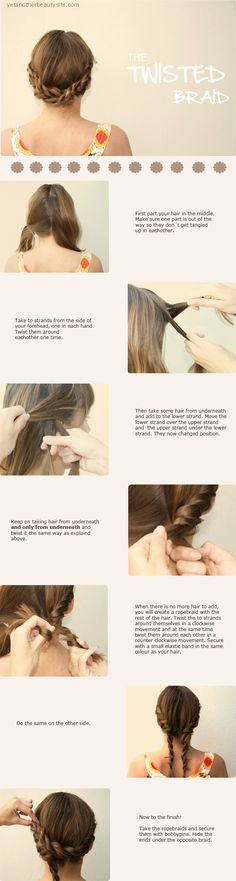 The Twisted Braid: a new take on classic braids- great idea for Nursing Students!