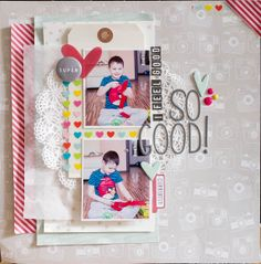 #papercraft #scrapbook #layout.  I feel good by alkobz at @Studio_Calico