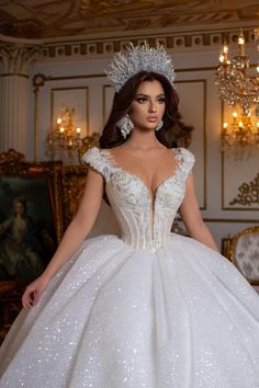 Muslim Wedding Gown, Wedding Dress Bustle, Indian Wedding Gowns, Unique Wedding Gowns, Cute Wedding Dress, Wedding Dresses For Sale, Bridal Dresses, White Princess Dress, Fairytale Dress