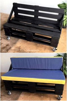wood pallet couch on wheels