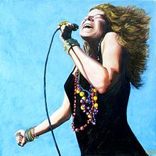 """Legendary Janis Joplin - One of the greatest female artists of all time. Died October 4, 1970 at the age of 27. Jimi Hendrix, Jim Morrison and Janis Joplin, three of rock's greatest icons died at 27 and all within a year of each other. Oddly, all three had first names beginning with the letter """"J"""" ....hmmmm."""