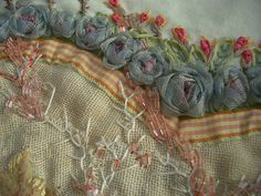pretty ribbon embroidery.  Cote Passions - French blog