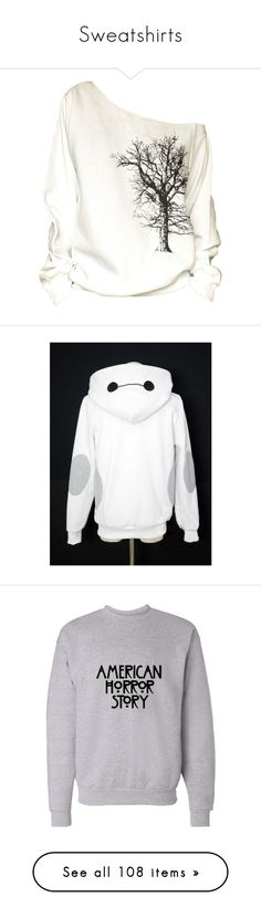"""""""Sweatshirts"""" by riptide-love ❤ liked on Polyvore featuring tops, hoodies, sweatshirts, shirts, sweaters, black, women's clothing, off the shoulder sweatshirt, cotton shirts and oversized sweatshirt"""