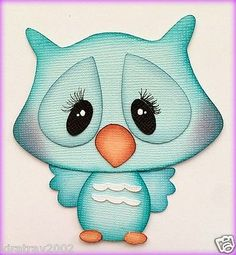 SPRING OWL BIRD ANIMAL PAPER PIECING BY MY TEAR BEARS KIRA PREMADE
