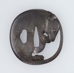 Tsuba in the form of a curled-up rat | Museum of Fine Arts, Boston