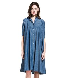 ROY ROGERS: ABITO EIREEN CHAMBRAY SW F/W 2016/17