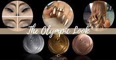 So yeah, none of us are Olympic medalists…but we can always do our hair, makeup and nails in honor of all of the amazing athletes out there!!