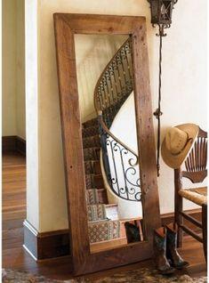 Specchio da terra cornice in legno massello anche su misura
