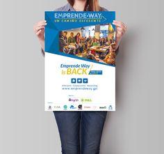 Diseño de cartel para las jornadas de afterwork de Emprende Way