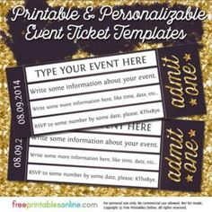 Free Ticket Maker Template Drip Drop Admit One Ticket Template  Yw Camp Fundraiser  Pinterest .