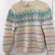 Sweaters - Vintage Striped Pastel Women's Sweater