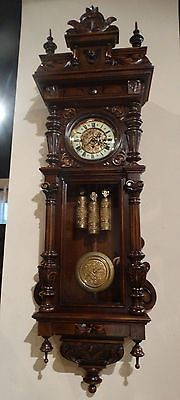 Gorgeous Huge Size Antique Gustav Becker Q-Strike Wall Clock- 18 -- Antique Price Guide Details Page