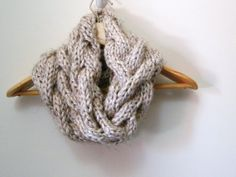 infinity scarf knit pattern | KNITTING PATTERN Cable Cowl Infinity Scarf PATTERN by LewisKnits on ...