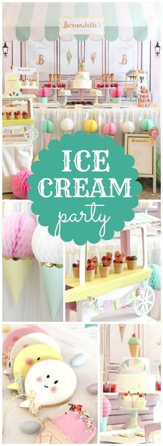 How fun is this ice cream parlour girl birthday party! See more party ideas at CatchMyParty.com!