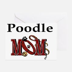 Poodle Mom Greeting Card for