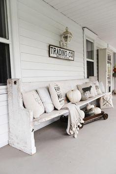 Rustic Farmhouse Porch Antique Sign