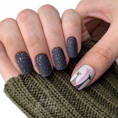 Winter Manicure Trendy Winter Nail Art Design, Trends&Photo Ideas of . Nail Art Designs, Black Nail Designs, Winter Nail Designs, Winter Nail Art, Winter Nails, Black Nails, Matte Nails, Nails Studio, Nails Design With Rhinestones
