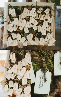 Garden bridal shower escort cards and ideas. #weddingchicks Captured By: Mango Studios http://www.weddingchicks.com/2014/06/25/indoor-garden-party-bridal-shower/