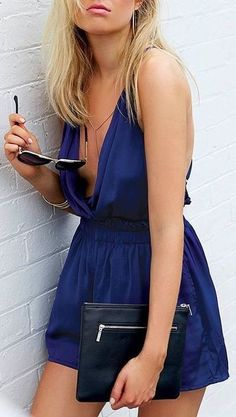 #beginningboutique #label #outfits | Navy Romper