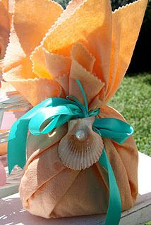 Super adorable mermaid goodie bags.