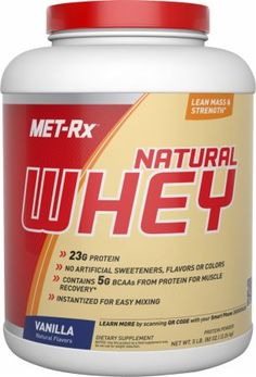 MET-Rx Natural Whey Vanilla 5 Lbs. METR810028 Vanilla - No Artificial Sweeteners, Flavors Or Colors!