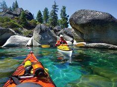 Kayaking Lake Tahoe