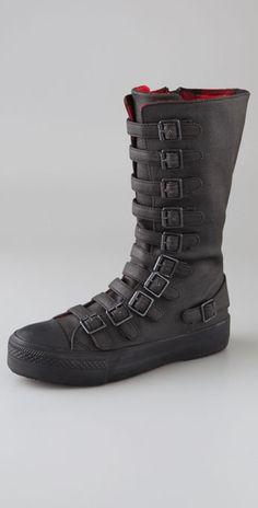 Morbid Fashion — (via Ash Nat Buckle Sneaker Boots) Tabi Shoes, Shoes Sandals, Heels, Vans Boots, Shoe Boots, Dark Fashion, Fashion Shoes, Mens Fashion, Custom Leather Belts