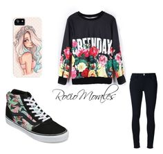 """""""Sin título #155"""" by rocio06morales ❤ liked on Polyvore featuring Frame Denim and Vans"""