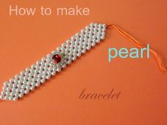 How to make a pearl bracelet - YouTube