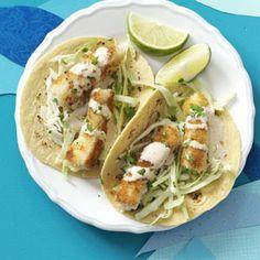 Baja Fish Tacos Recipe from Taste of Home :: shared by Brooke Keller of Lexington, Kentucky :: http://pinterest.com/taste_of_home/