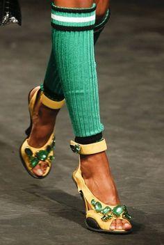 Collezione Scarpe Prada primavera estate 2014 FOTO  #prada #shoes #scarpe #heels #tacchi #primaveraestate #springsummer #moda #fashion