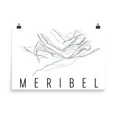 Meribel Ski Map Art, Meribel France, Meribel Trail Map, Meribel Resort Print, Meribel Poster, Meribel Mountain, Meribel Ski Art, Meribel Art
