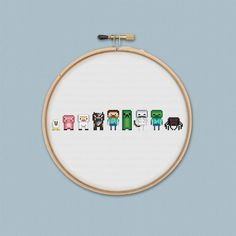 Minecraft Original Mobs and Monsters Cross Stitch Pattern PDF Instant Download