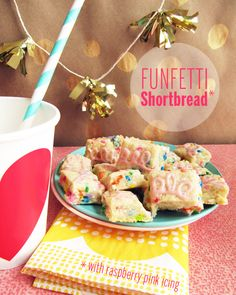 Just got the urge to make Funfetti cookies, I knew @Take A Megabite // Megan wouldn't let me down!.....Funfetti Shortbread // take a megabite